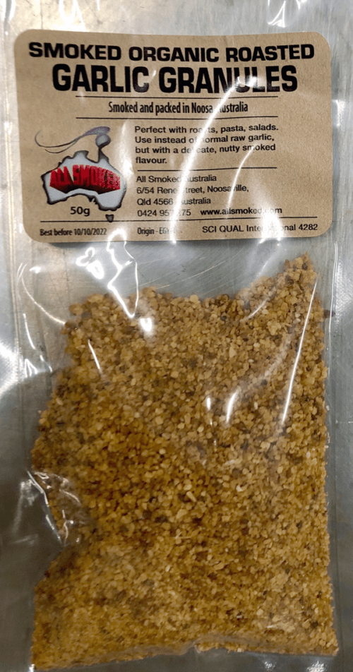 Smoked Organic Roasted Garlic Granules 50g